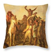 Election Scene Catonsville Throw Pillow