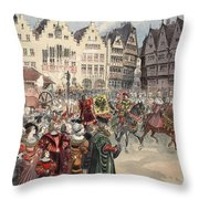Election To The Empire The Procession Throw Pillow