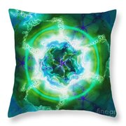 Electric Attraction Throw Pillow