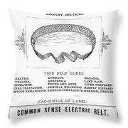 Electric Belt Ad Throw Pillow