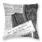Electric Brushes, 1882 Throw Pillow