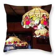 Electric Butterflies Throw Pillow