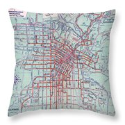 Electric Car And Bus Routes In La  Throw Pillow