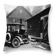Electric Car, C1919 Throw Pillow