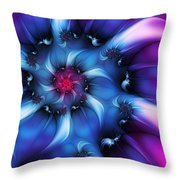 Electric Colours Throw Pillow