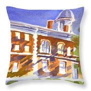 Electric Courthouse Throw Pillow