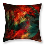 Electric Dreams Of The Ancients Throw Pillow