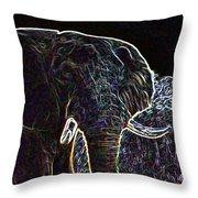 Electric Elephant Throw Pillow