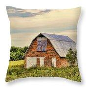 Electric Fan Quilt Barn Throw Pillow