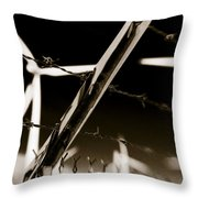 Electric Fence Duo Tone Throw Pillow