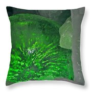 Electric Green Throw Pillow