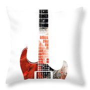 Electric Guitar - Buy Colorful Abstract Musical Instrument Throw Pillow