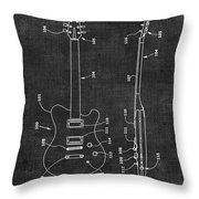 Electric Guitar Patent 039 Throw Pillow