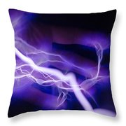 Electric Hand Throw Pillow