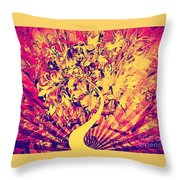 Electric Highway Throw Pillow
