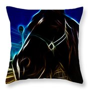 Electric Horse Throw Pillow
