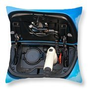 Electric Hybrid Car Charging Socket Throw Pillow