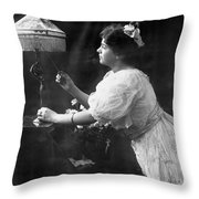 Electric Lamp, 1908 Throw Pillow