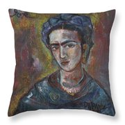 Electric Light Frida Throw Pillow