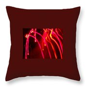 Electric Rain Throw Pillow