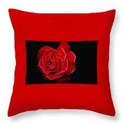 Electric Rose Throw Pillow