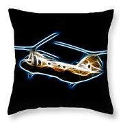 Electric Sea Knight Throw Pillow