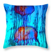 Electric See Throw Pillow