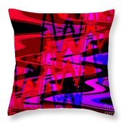 Electric Shivers Throw Pillow
