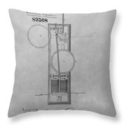 Electric Signal Patent Drawing Throw Pillow