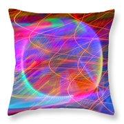 Electric Star Throw Pillow