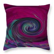 Electric Tidal Wave Throw Pillow