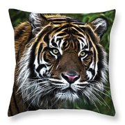 Electric Tiger Throw Pillow
