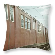 Electric Train Throw Pillow