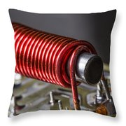 Electrical Coil With Iron Core Throw Pillow