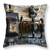Electrical Energy Safety Switch Throw Pillow by Paul Ward