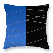 Electrical Grid Throw Pillow