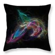 Electrical Prism Throw Pillow