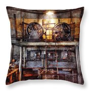 Electrician - Turbine Station Throw Pillow by Mike Savad