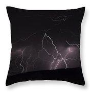 Electrified Hillside Throw Pillow