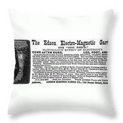 Electro-magnetic Garter Throw Pillow