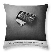 Electronic Brain Throw Pillow