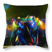 Electronic Dance Trance Throw Pillow