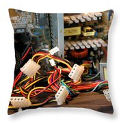Electronic Octopus Throw Pillow