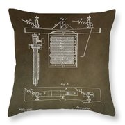 Electroplating Procedure Patent Throw Pillow
