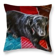Electrostatic Dog And Blanket Throw Pillow