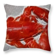 Electrostatic Lobster Throw Pillow