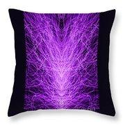 Electrostatic Purple Throw Pillow