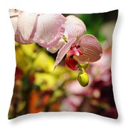 Elegance At The Market Throw Pillow