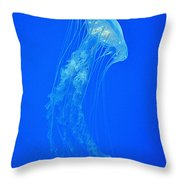 Elegance In Blue Throw Pillow