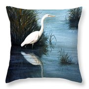 Elegance In White Throw Pillow